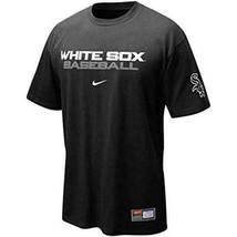 Mens Nike Black Practice II Chicago White Sox Baseball T-shirt MLB Tee M... - $21.99