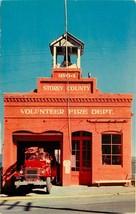 Chrome Postcard NV AH C394 Storey County Fire Department Virginia City N... - $8.00