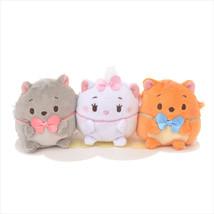 Disney Store Japan Marie & Toulouse & Berlioz Ufufy Mini Plush Set New w... - $23.30