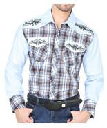 Cowboy Shirt Long Sleeve Camisa Vaquera El General Blue - €27,42 EUR