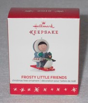 Hallmark Keepsake 2016 Frosty Little Friends Miniature Ornament QXM8591 - $7.66