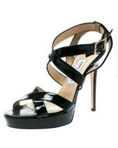 Jimmy Choo Louisa patent leather platform sandals straps size 9 EUR 39 E... - $299.00