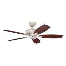 Kichler 320500ANS Climates Ceiling Fans 52in Antique Satin Silver  - $318.00