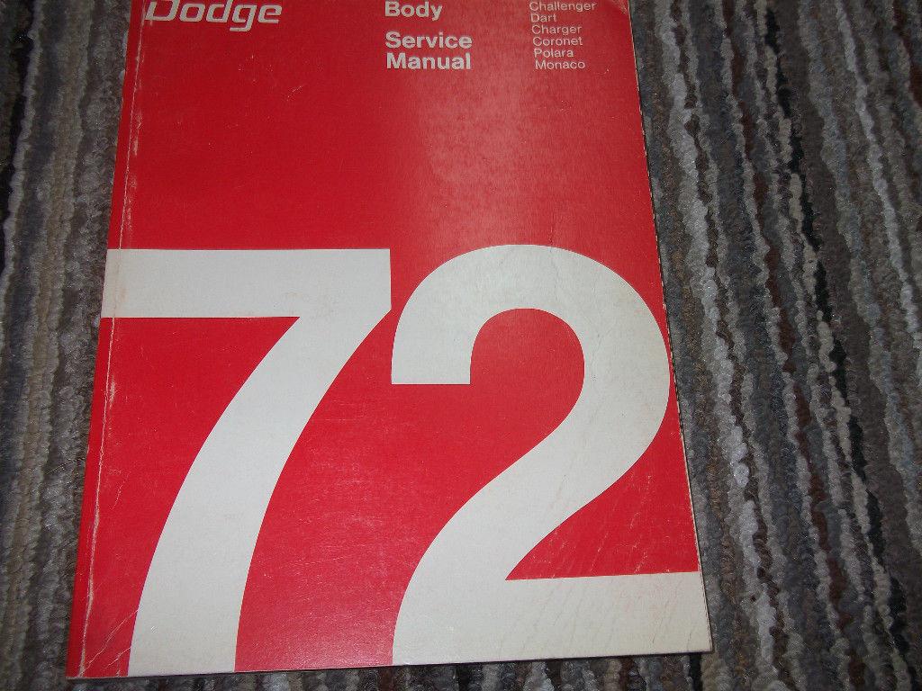 1972 Dodge Coronet Polara Monaco Body Service Shop Repair Manual FACTORY OEM - $37.57