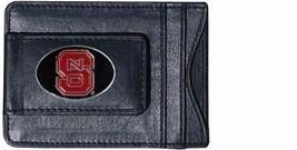 north carolina state wolfpack logo ncaa college emblem leather cash & cardholder - $27.07