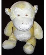 "My Natural Monkey 12"" Plush Cream Sitting Velour Stuffed Animal Baby Lov... - $11.16"