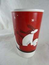 Starbucks Coffee Holiday Christmas Scene dog on sled Large Cup Mug 20 oz... - $15.83