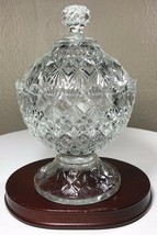 """Fenton""""Olde Virginia Glass"""" Clear Glass Covered Footed Candy Dish Vintag... - $27.50"""