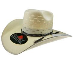 Men's Western Hat El General Sombrero 100X El Cartel Bangora 7 Lineas Ivory - €36,88 EUR