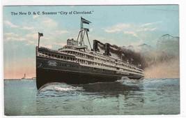 Steamer City of Cleveland D&C Line 1910c postcard - $4.46