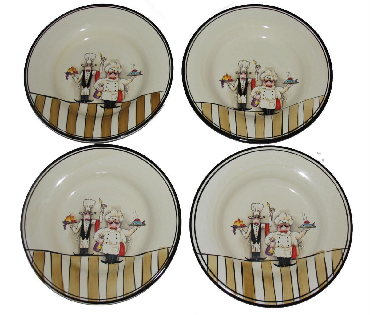 4 HD Design Whimsical Chefs Waiters 10-3/4