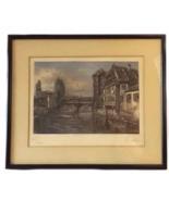 Vintage Color Etching & Engraving German Landsc... - $48.00