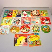 Lot of 17 Vintage Children's Records 45's Barbie Sings Quick Draw McGraw - $59.00