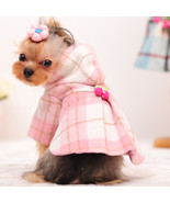 Dog warm coat pet clothes for dogs small dog clothes winter jacket plaid - $25.99
