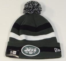 New Era NFL New York Jets Cuff Beanie Skull Cap with Pom Pom Mens NWT - £20.85 GBP