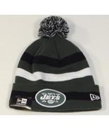New Era NFL New York Jets Cuff Beanie Skull Cap with Pom Pom Mens NWT - $25.98