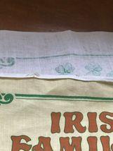Gently Used Linen Union IRISH Families Yellow & Green Kitchen Towel Wall Hanging image 7
