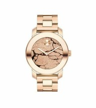 LATEST MOVADO 3600347 Bold Rose Gold Glitter Dial Rose Gold Watch  - $519.75
