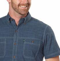 NEW G.H. Bass & Co. Men's Short Sleeve Dark Blue Woven Shirt image 3