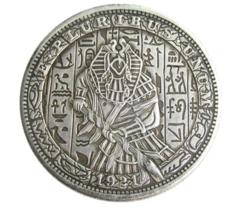 Hobo Nickel Dollar Egypt God Set Death Ancient Religion Pharaoh US Art ... - $10.96