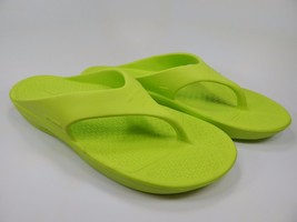 Terox Neon Green Flip Flops Recovery Sandals Men's 12 (2XL)