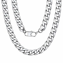 "Men Stainless Steel Curb Necklace Chain 20"" - $9.50"