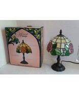 Heritage Mint Tiffany Style Stained Glass Rose Table Accent Lamp - $82.96