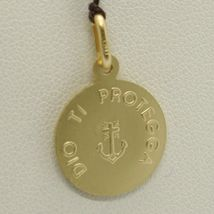 SOLID 18K YELLOW GOLD JESUS CHRIST REDEEMER 15 MM MEDAL, PENDANT, MADE IN ITALY image 6
