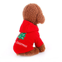 Cute Pet Dog Cat Christmas Coat Clothes Jacket Costume Winter Warmer App... - $9.54