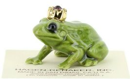 Birthstone Frog Prince February Simulated Amethyst Miniatures by Hagen-Renaker image 7