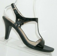 Sofft 'Sonoria' black patent leather t-strap ankle strap sandal heels 10M 7982 - $33.30
