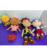 Disney Collections Jake and Neverland Pirates Plush Set of 4 Cubby Skull... - $39.59