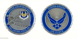 "TINKER AIR FORCE BASE OKLAHOMA 1.75"" MILITARY CHALLENGE COIN - $16.24"