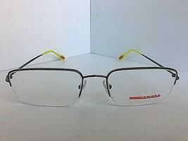 New PRADA VPS 51F VPS51F 5AV-1O1 Silver Semi-Rimless 55mm Eyeglasses Fra... - $79.99