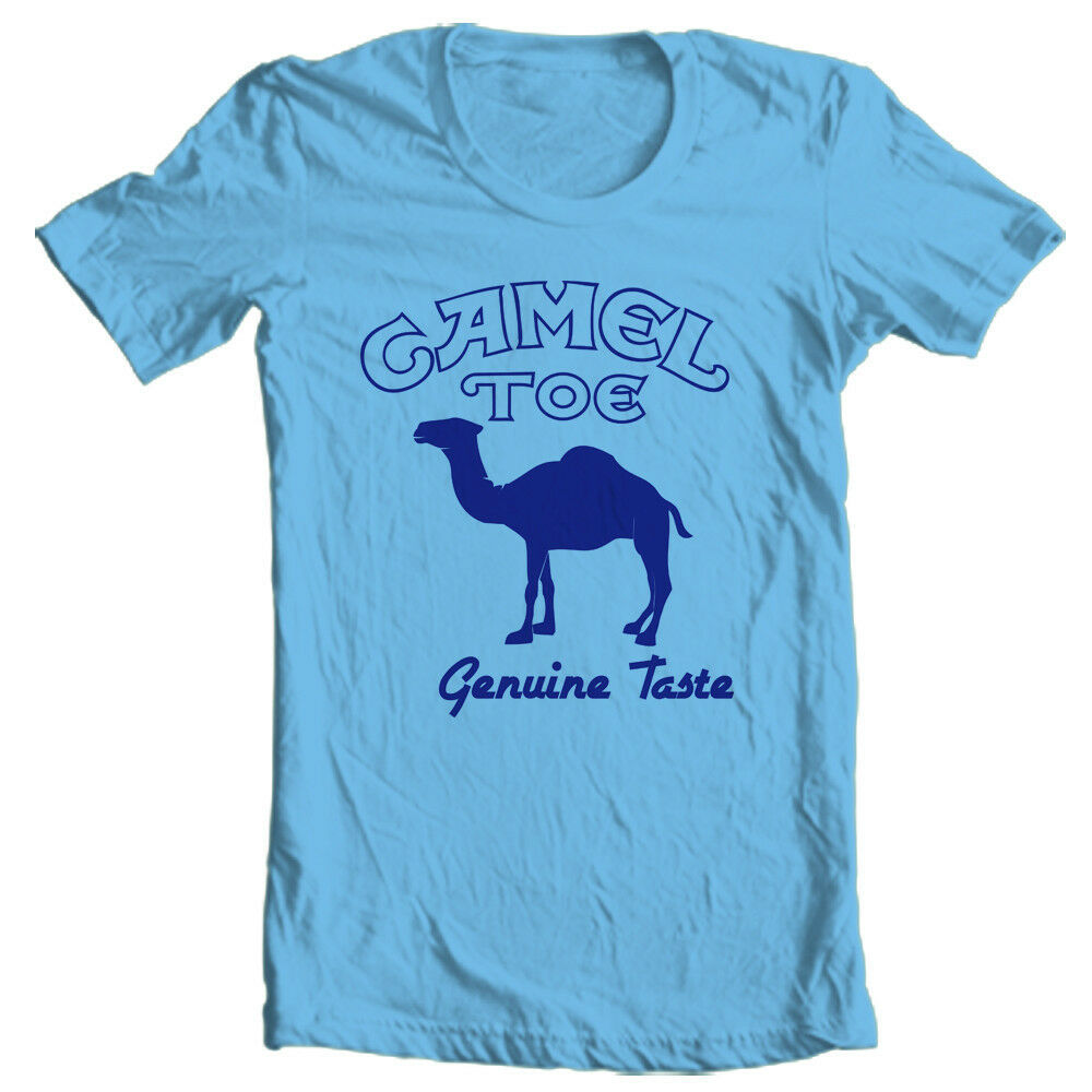 Camel Toe cigarette T-shirt funny retro 1980's 100% cotton novelty graphic tee