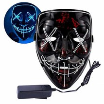 Halloween LED Light Up Mask for Men,Women and Kids- Scary (Blue) - £15.49 GBP