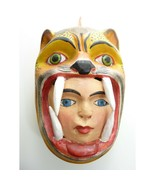 Vintage Mexico Folk Mask Jaguar and Human Face in Mouth  - $199.00