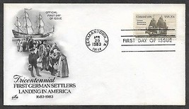 USA 1983 Sc 2040 GERMAN IMMIGRANTS 300th Anniv Sailing Ship CONCORD ARTC... - $0.99
