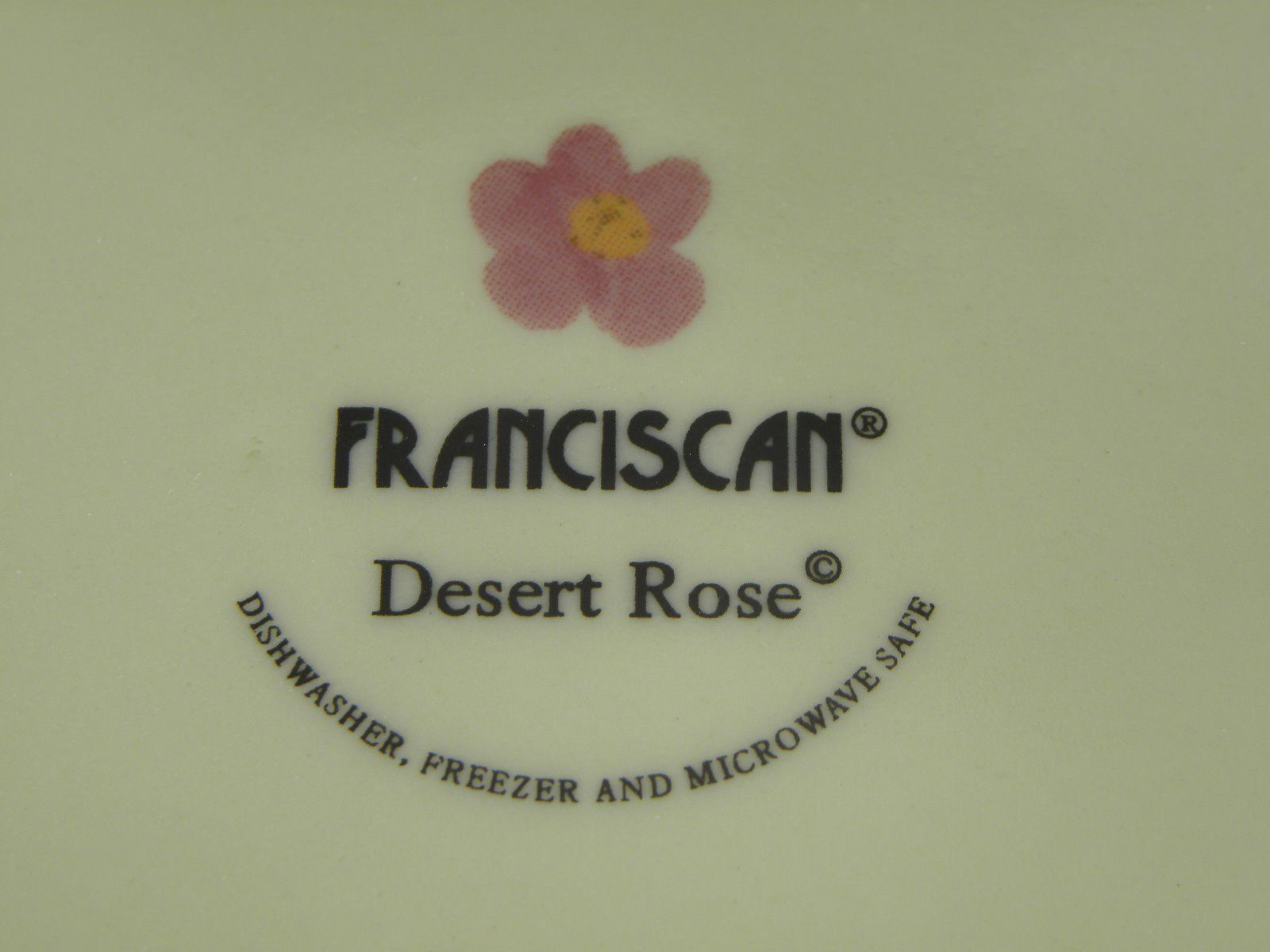 Franciscan Desert Rose Round Vegetable Server  BRAND NEW PRODUCTION