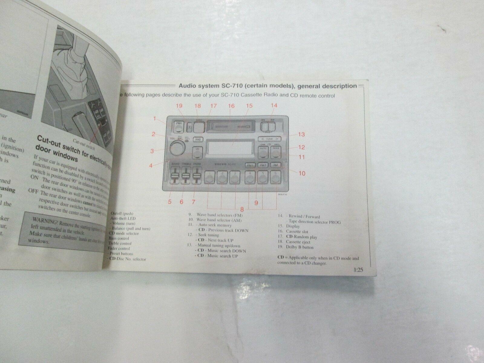 1996 Volvo 850 Owners Manuell Set Wasser Beschädigt Neu Fabrik OEM Buch 96 *** image 11
