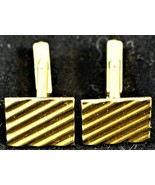 Swank Gold Tone Cuff Links Cufflinks Rectangle Shape - $9.89