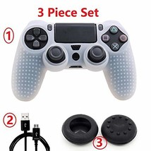 PS4 Controller Studded Silicone Cover Skin Case for Sony (PS4 white) - $14.75