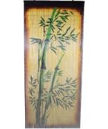 Natural Bamboo Beaded Curtain Bamboo Tree Scene Beads Window Doors Room ... - $59.39