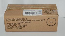 Sage Company XAO11985PL Glittered Snowflake Ornament 12 Pieces Platinum Color image 6