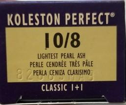 WELLA Koleston Classic Permanent Creme HairColor 10/8 Lightest Pearl Ash 2 oz - $9.49