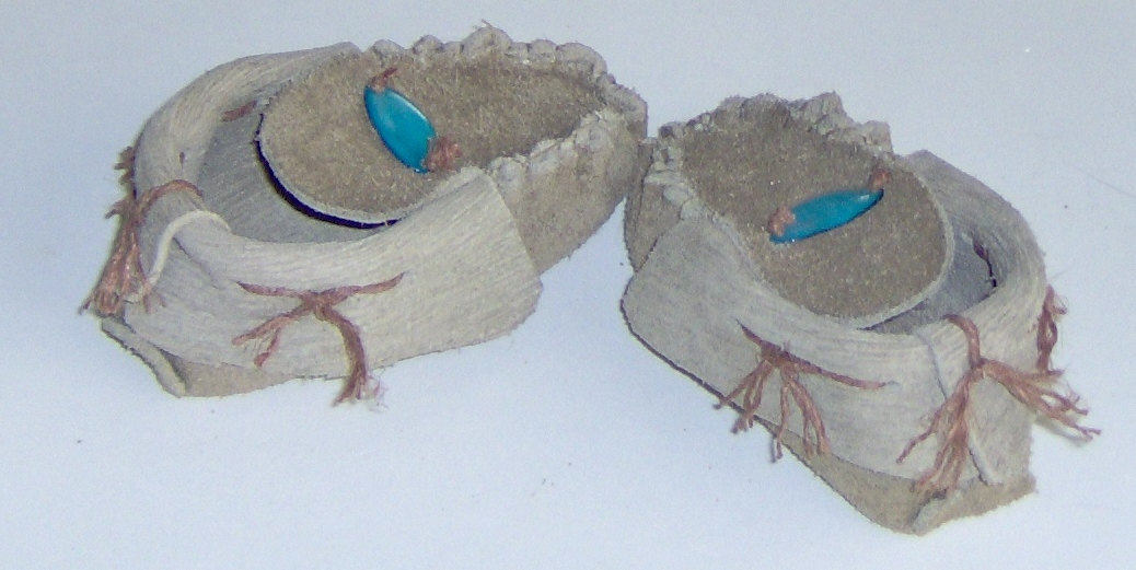 American Made! Brown Leather Baby Moccasins with MOP, First infant Moccasins