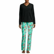 NWT $ 54 Pj Couture Fleece Pajama Set  WITH Blanket Black Fox  SIZE MEDIUM - $30.69