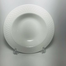 "Lnt Home Oneida Basket Weave Wicker White Made In China 9"" Soup Bowls - $14.01"