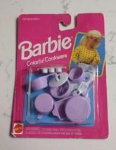 Vtg Barbie Mattel Colorful Cookware 1993 New in Pkg Purple 65009 Pans Ut... - $17.75