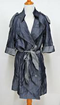 CYNTHIA STEFFE 10 Crisp Tencel Chambray Trench Coat Dress  - $49.95